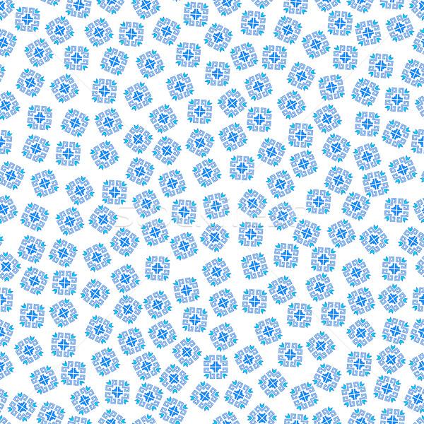 Sin costura patrón geométrico patrón tradicional elementos Foto stock © Irinka_Spirid