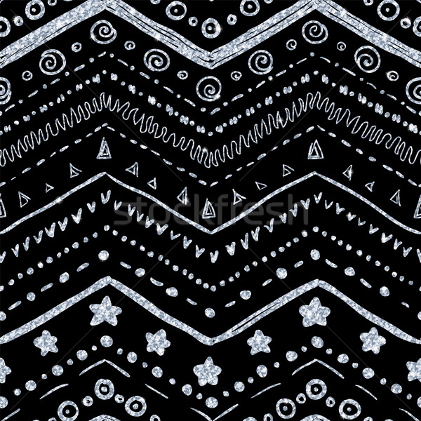 Vettore elementi nero argento Foto d'archivio © Irinka_Spirid