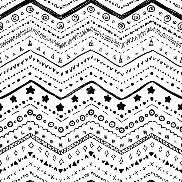 Vector elementos blanco negro textura mano Foto stock © Irinka_Spirid