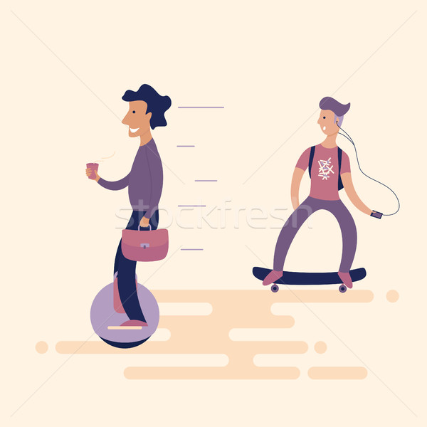 the unicycle Stock photo © Irinka_Spirid
