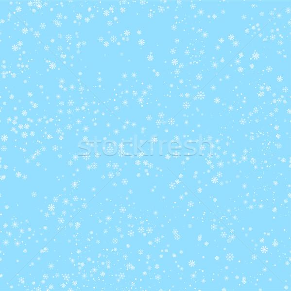 Sin costura invierno patrón diferente blanco Foto stock © Irinka_Spirid