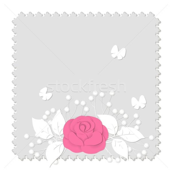 Carta stile abstract 3D immagine fiori Foto d'archivio © Irinka_Spirid