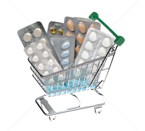 Carrello diverso pillole pack isolato Foto d'archivio © ironstealth