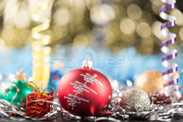 Noel yılbaşı dekorasyon soyut dizayn kar Stok fotoğraf © ironstealth