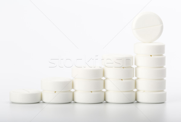 Pills on white background Stock photo © ironstealth