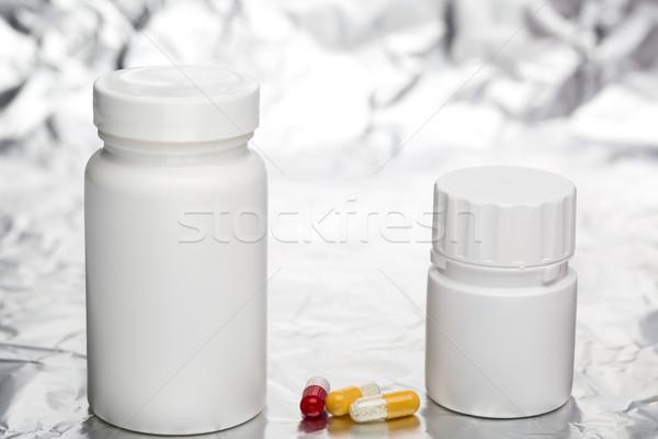 医療 カプセル 白 プラスチック ボトル 病院 ストックフォト © ironstealth