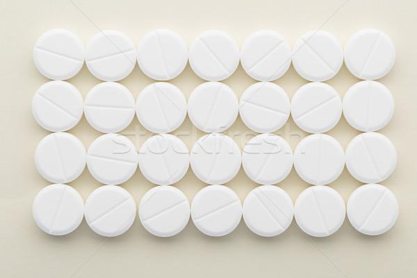 Retângulo branco pílulas luz médico fundo Foto stock © ironstealth