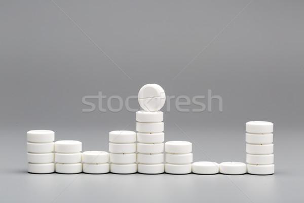 Abstract grafico bianco pillole grigio ospedale Foto d'archivio © ironstealth