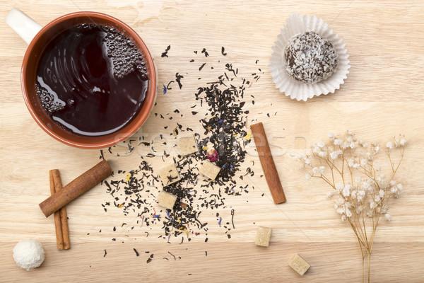 Mug nero tè colazione Foto d'archivio © ironstealth