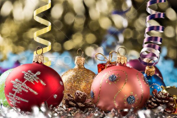 Natal ano novo decoração abstrato projeto bola Foto stock © ironstealth
