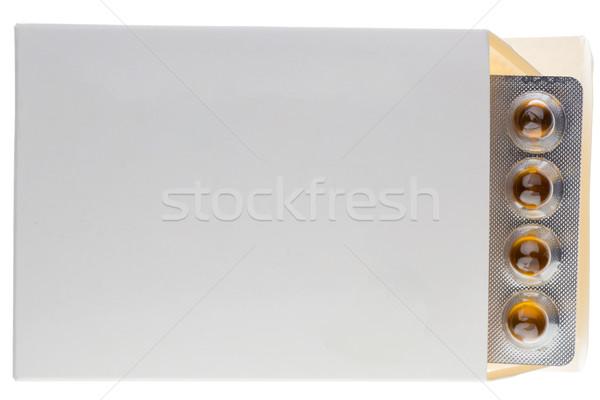 Hólyag doboz csomag izolált fehér tabletták Stock fotó © ironstealth