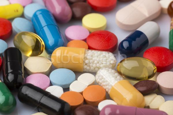 Színes orvosi tabletták drogok terv technológia Stock fotó © ironstealth
