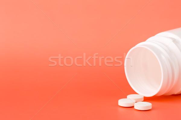 Bianco pillole open rosa medici Foto d'archivio © ironstealth