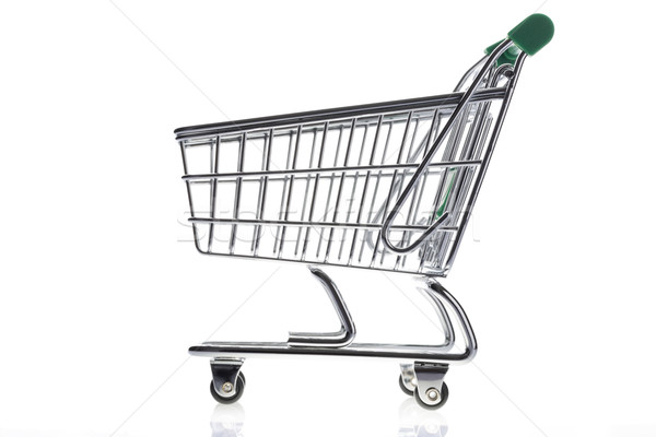 Shopping cart isolated on white background Stock photo © ironstealth