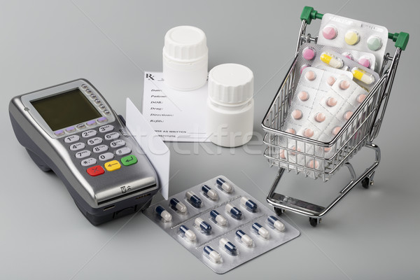 стоить медицина оплата беспроводных кожа бумажник Сток-фото © ironstealth