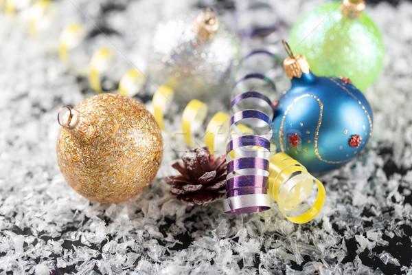Natal ano novo decoração abstrato feliz neve Foto stock © ironstealth