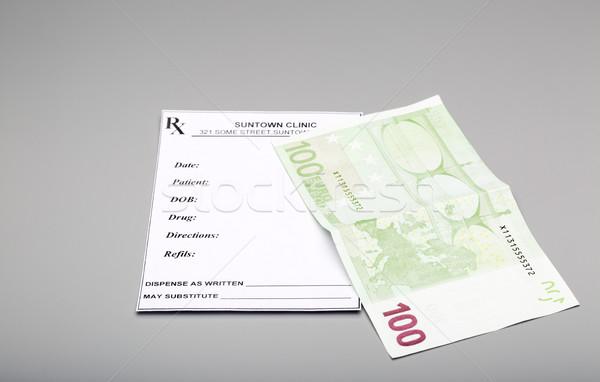 Costo medicina prescripción uno cien euros Foto stock © ironstealth