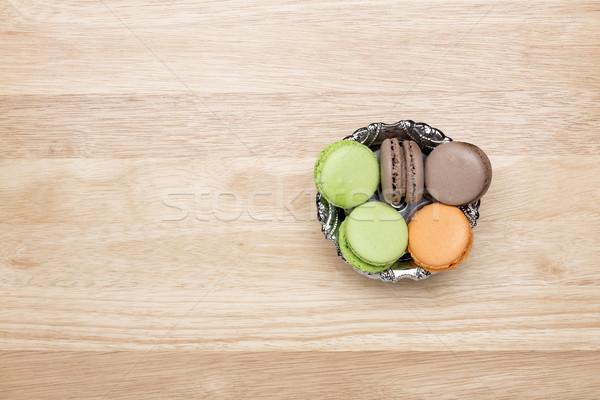 Colorato view sopra legno alimentare verde Foto d'archivio © ironstealth