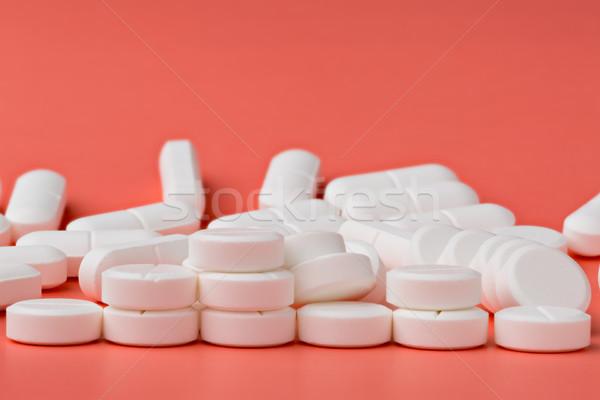 Hoop witte pillen roze medische geneeskunde Stockfoto © ironstealth