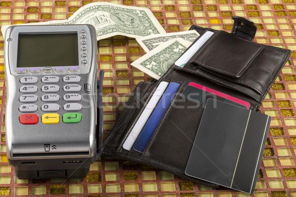 支払い ワイヤレス ウォレット ドル ストックフォト © ironstealth
