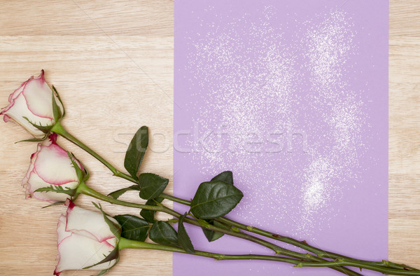 Pourpre page blanche rose bois espace de copie Photo stock © ironstealth