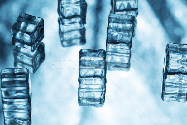 Abstract backgrounds with ice cubes Stock photo © ironstealth