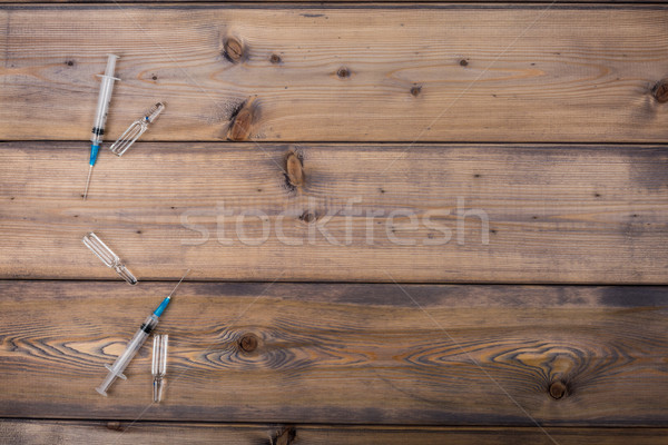 Medicine setup. Syringe and ampule Stock photo © ironstealth
