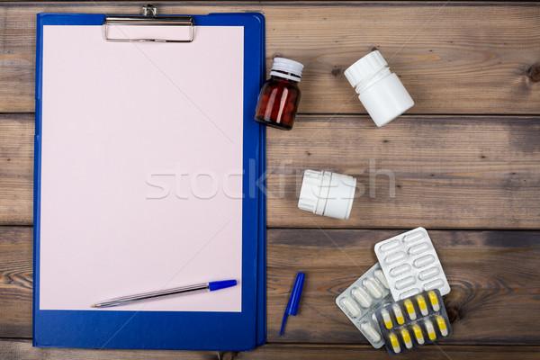 пустая страница различный наркотиков упаковка пер Сток-фото © ironstealth