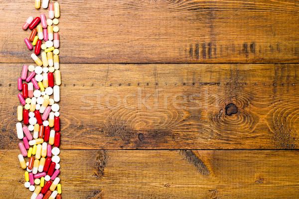 границе различный красочный капсулы таблетки различный Сток-фото © ironstealth