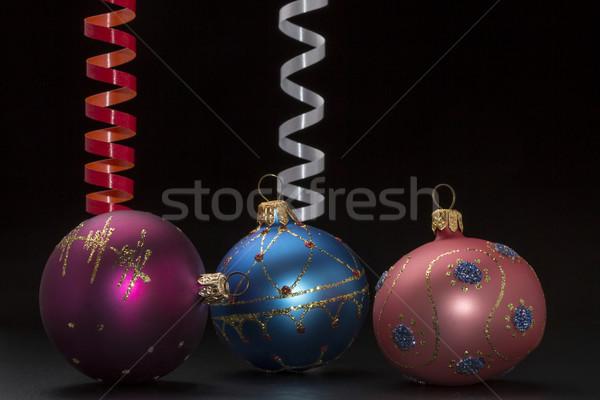 Noël décoration coloré noir Photo stock © ironstealth