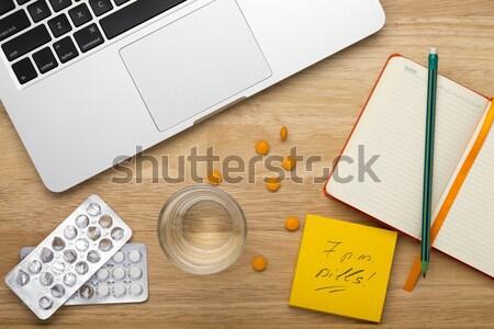 заметка таблетки месте ноутбука мобильных Сток-фото © ironstealth
