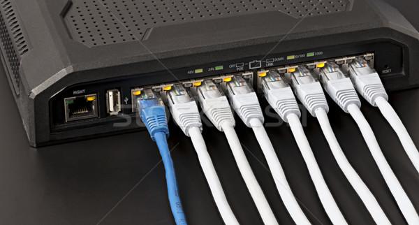 переключатель 10 власти Ethernet технологий сеть Сток-фото © ironstealth