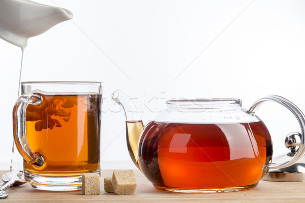 Spilled milk for cup of tea.  Stock photo © ironstealth
