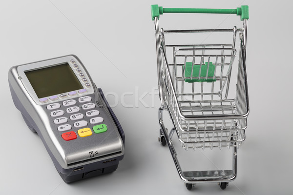Credit card machine with empty shopping cart Stock photo © ironstealth