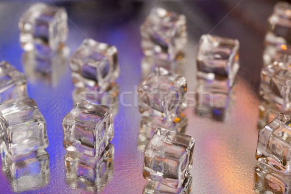 Cold ice cubes Stock photo © ironstealth
