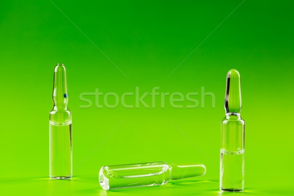 Three glass ampules of medicine Stock photo © ironstealth