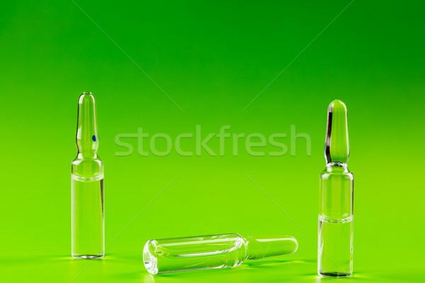 Trois verre médecine vert médicaux santé Photo stock © ironstealth