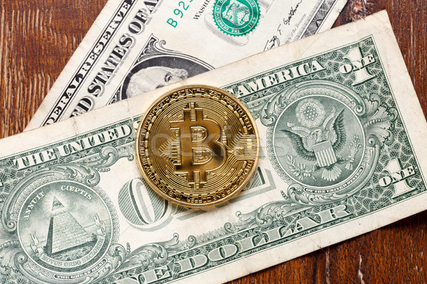 Metal bitcoin coin Stock photo © ironstealth