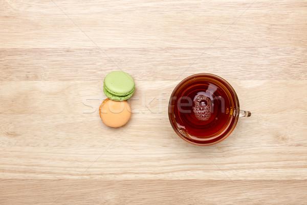 Vidrio taza negro té colorido dos Foto stock © ironstealth