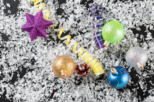 Noel yılbaşı dekorasyon soyut parti dizayn Stok fotoğraf © ironstealth