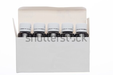 Open white box with bottle pharmaceutical Stock photo © ironstealth