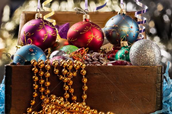Natal ano novo decoração abstrato luz inverno Foto stock © ironstealth
