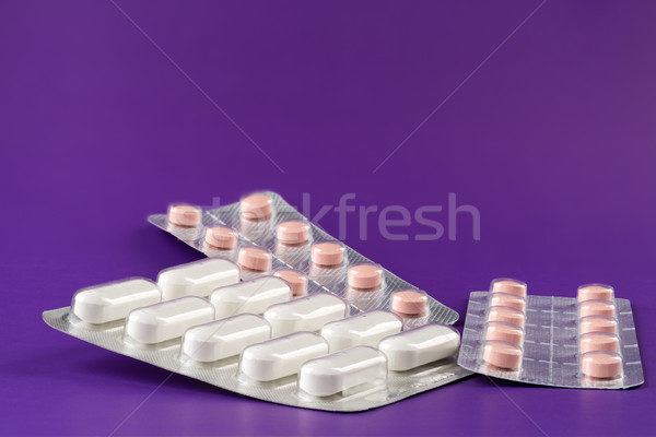 Various blister packs of pills Stock photo © ironstealth