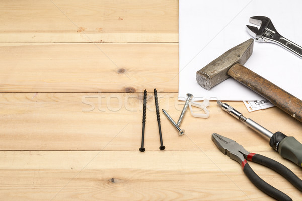 Différent main outils réparation construction Photo stock © ironstealth