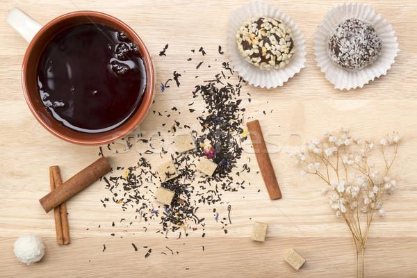 Mug nero tè due Foto d'archivio © ironstealth
