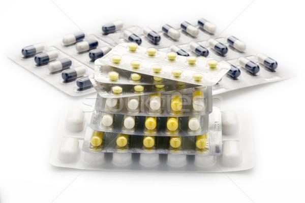 Colorato pillole capsule bianco Foto d'archivio © ironstealth