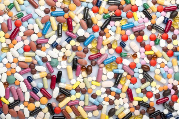 красочный медицинской таблетки наркотики медицина темно Сток-фото © ironstealth