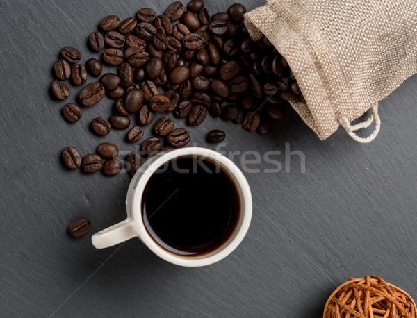 куча кофе бобов Кубок свежие кофе Сток-фото © ironstealth