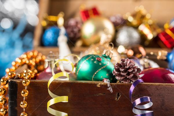 Natal ano novo decoração abstrato vidro verde Foto stock © ironstealth