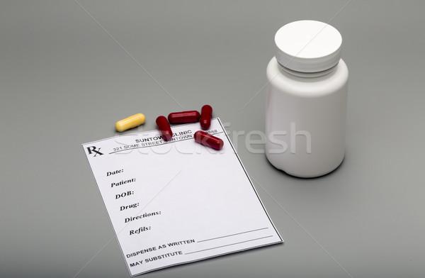 рецепт капсулы таблетки бутылку серый врач Сток-фото © ironstealth